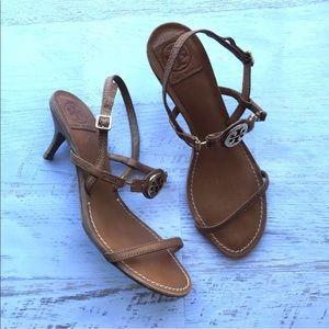 6a4678123a3f Tory Burch Shoes - Tory Burch Mira Leather Slingback Kitten Heels